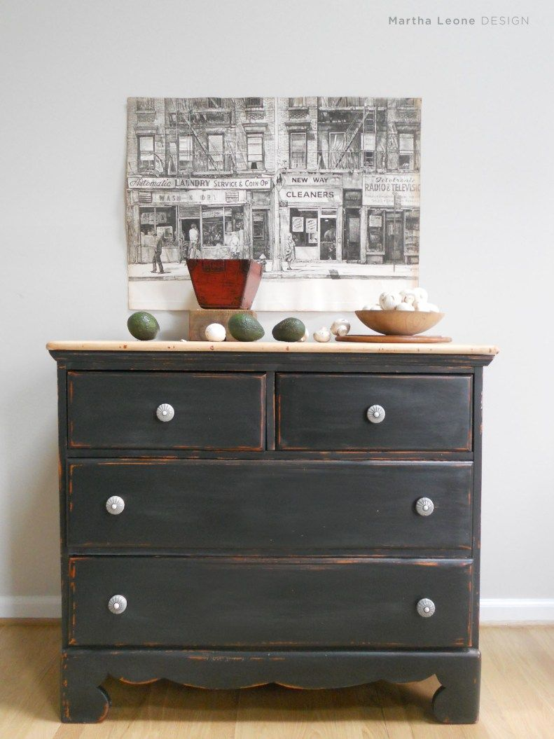 A Classic Combo Of Black And Natural Wood Dressers Black Chest