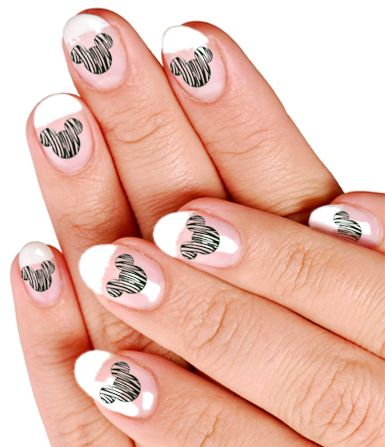 Mickey Nail Decals These Remind Me Of Zebra Domes Products I Love