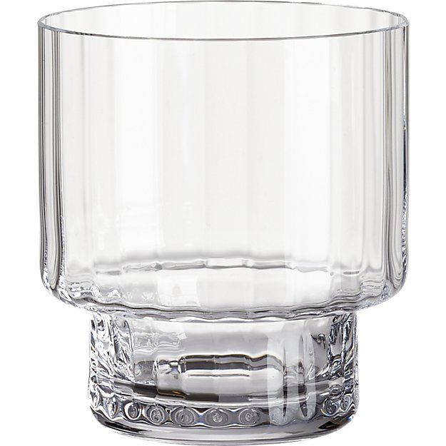 Top Heavy Optic Double Old Fashioned Glass Unique Glassware Old Fashioned Glass Glass