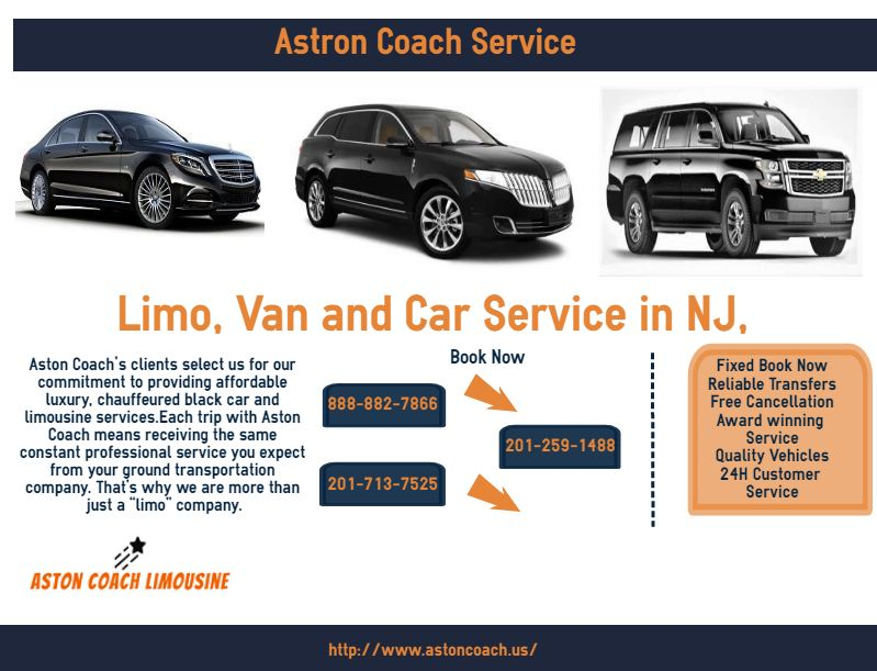 Aston Coach service provide Chauffeured Black Car New Jersey