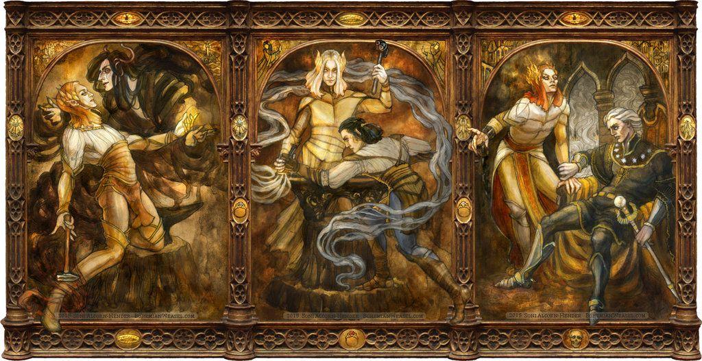 Sauron triptych by BohemianWeasel.deviantart.com on @DeviantArt