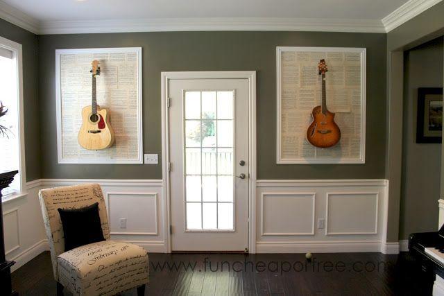 DIY Framed Guitars | Guitar My Walls | Pinterest | Schlafzimmer