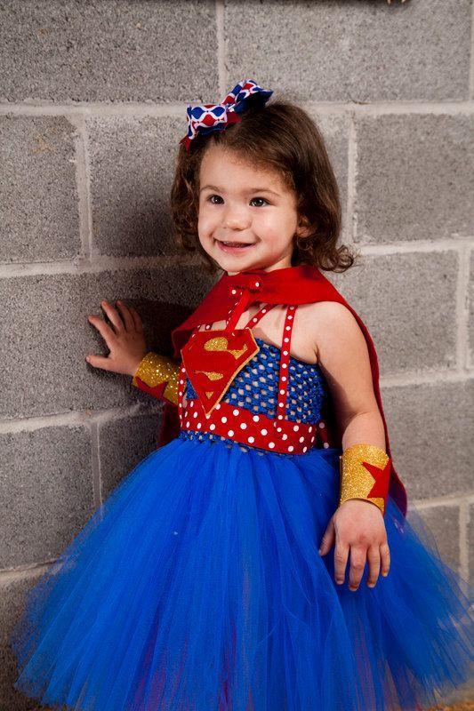 Super Girl Tutu Dress Halloween Costume by BlissyCoutureTutus - no cost halloween costume ideas