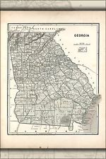 16x24 Poster; Map Of Georgia 1842