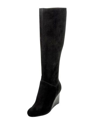 Cora Suede Wedge Boot, Black by Cole Haan at Neiman Marcus.