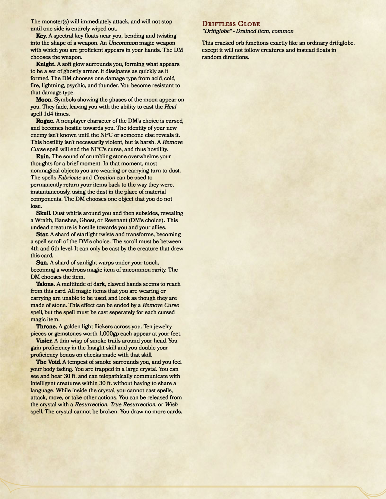 The First Installment Of My Drained Magic Series This One Covers A Through D With Some Simple Variants Of Mag Deck Of Many Things Dungeon Master S Guide D D Home dungeons & dragons 5e a collection of d&d class guides. pinterest