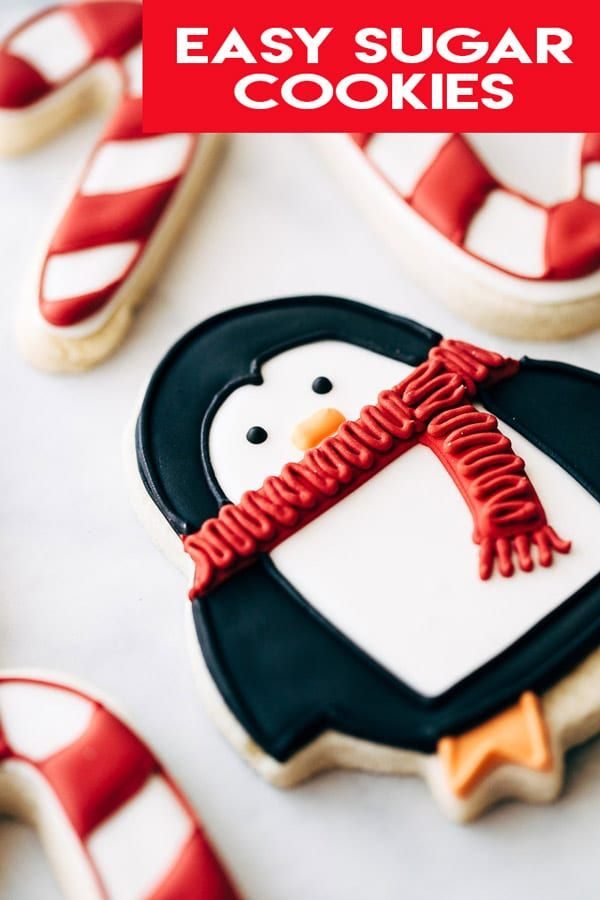 Easy Sugar Cookies Recipe - wont' spread when baking and perfect for decorating with royal icing. #sugarcookies #royalicing #decoratedcookies #christmascookies #sugarcookiecutouts