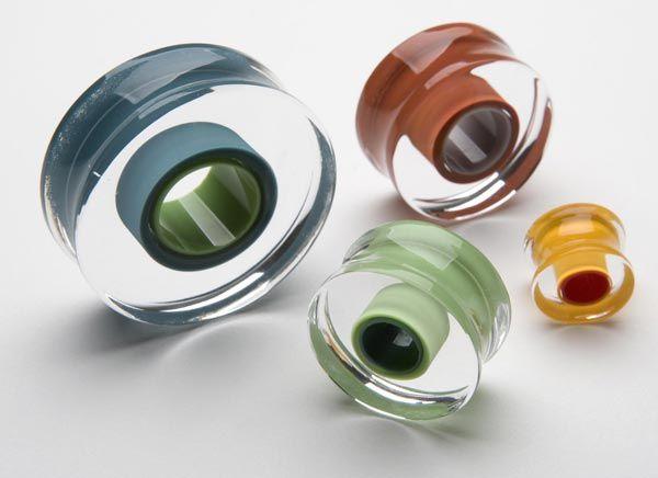 24++ Gorilla glass plugs body jewelry ideas