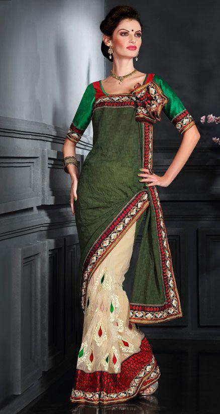 Saree Draping Saree Saree Green Saree Party Wear
