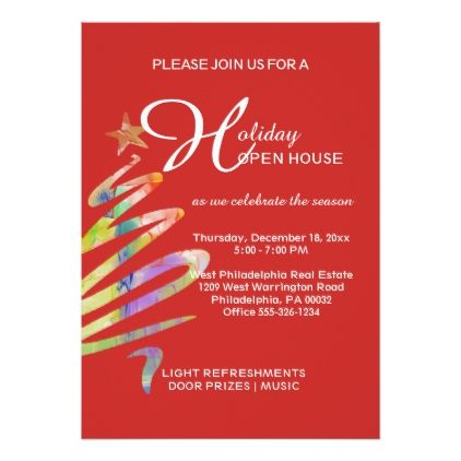 Business Holiday Open House Invitation - christmas cards merry xmas