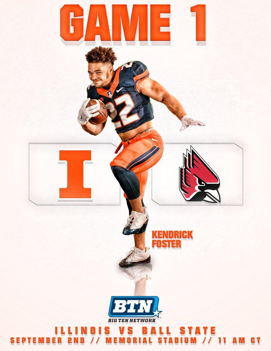 Illinois football poster college football football