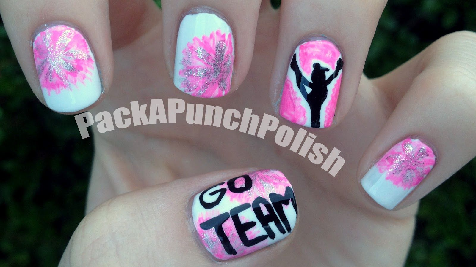 857be25ce Cheerleading #nail #nails #nailart with ur gym/team colors ...