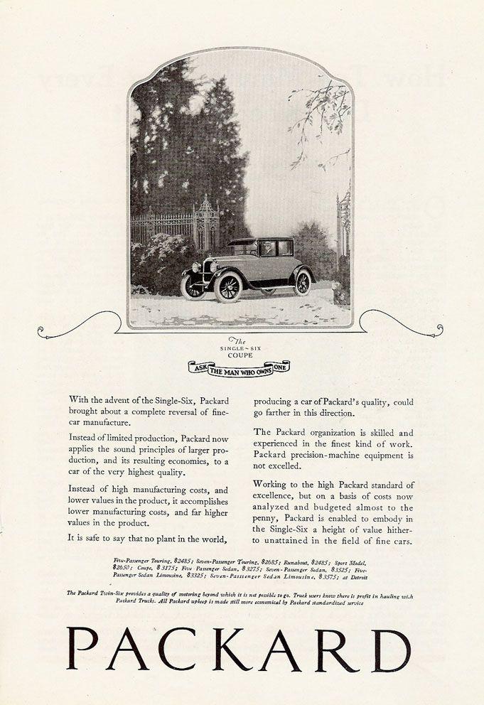 1922 Packard Motor Vehicle Car Detroit Automobile Old Cars Vintage