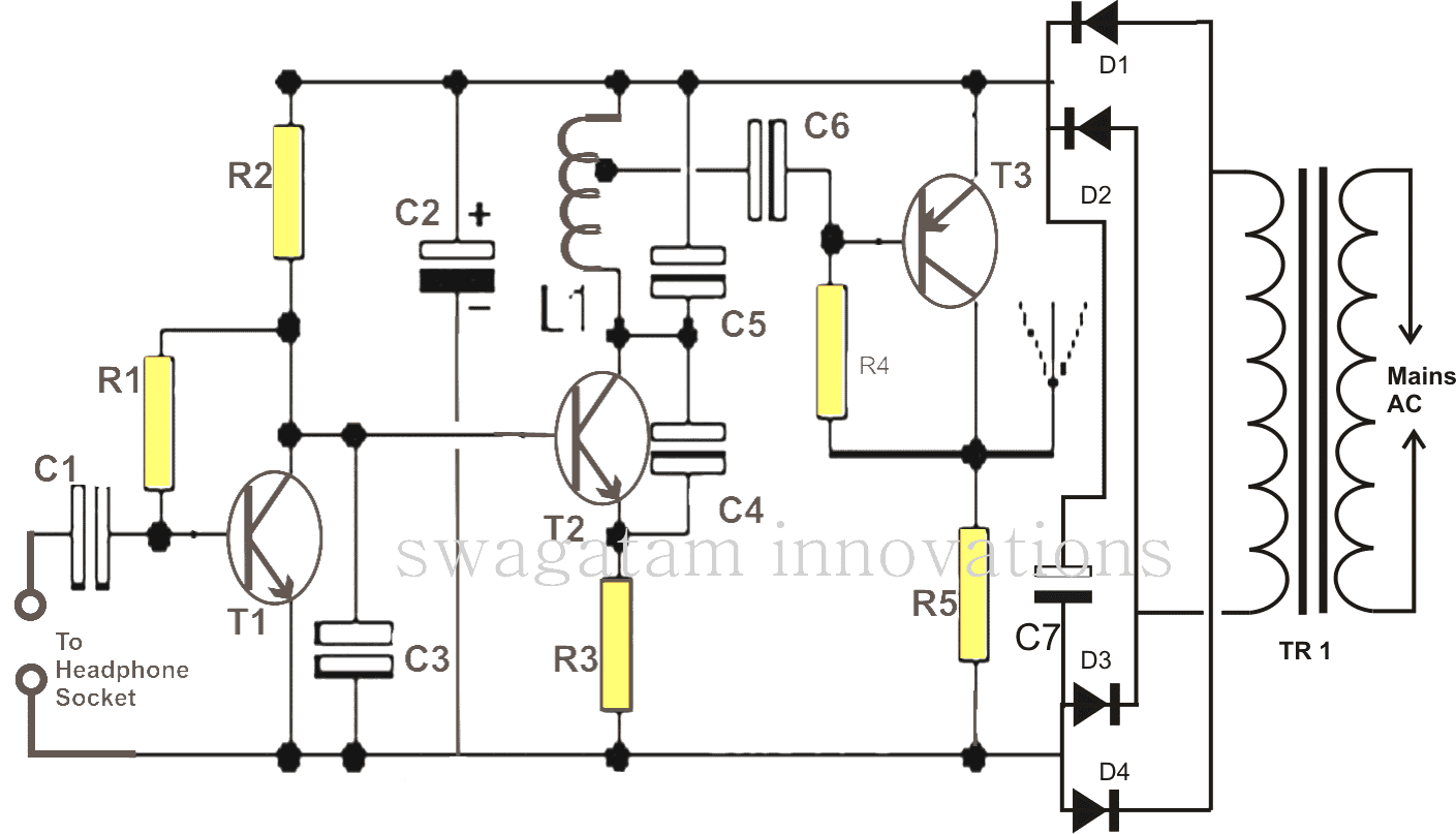 The article explains a very simple circuit of a wireless