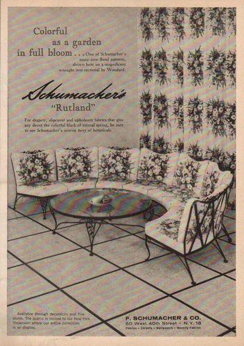 schumacher and vintage Furniture gardener