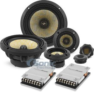 Precision Power Ppi P65c3 6 5 3 Way Component Speakers W Amt Tweeter Component Speakers Tweeter Car Audio Battery