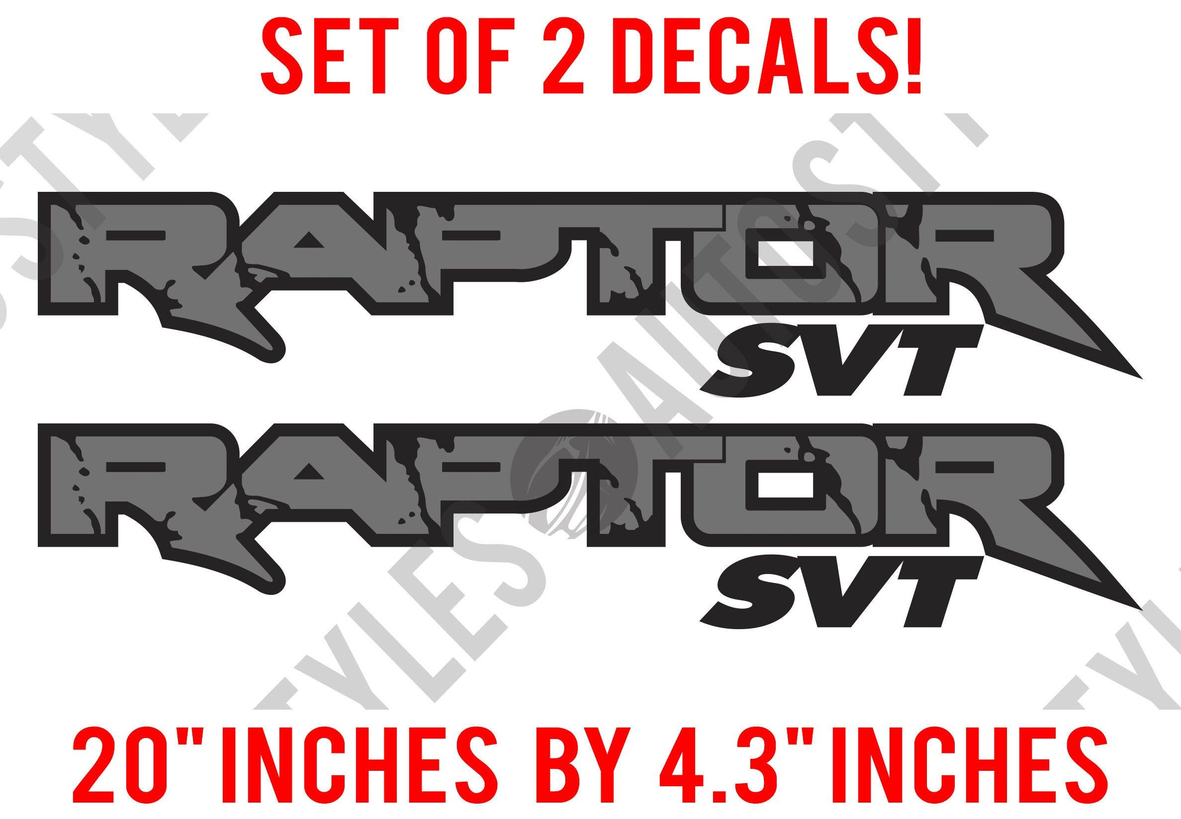 Ford Raptor Svt Side Bed Truck Decals Vinyl Graphic Sticker Etsy