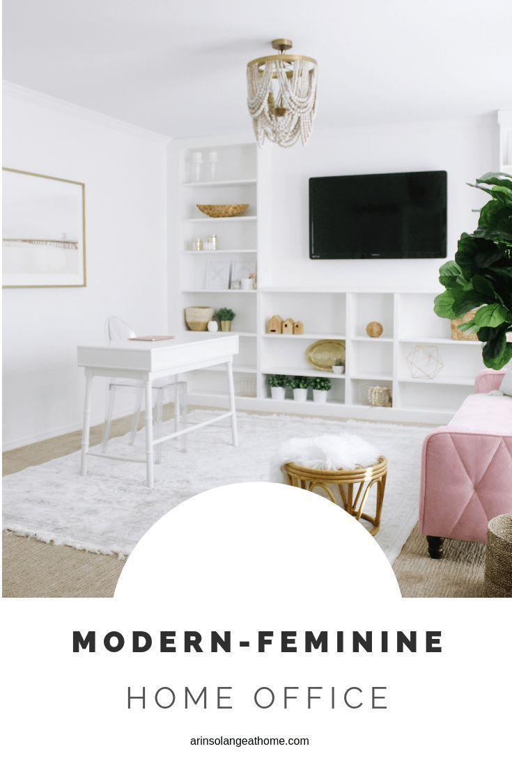 Modern Feminine Home Office   Feminine home offices, Home ...