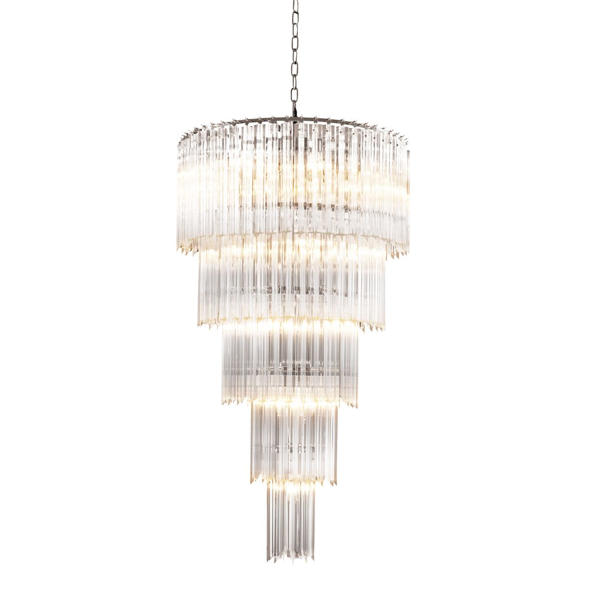 For lounge chandelier alpina l eichholtz eichholtz order eichholtz alpina chandelier range absolutely showstopping large hanging chandelier with glass droplets cascading from the nickel finish frame arubaitofo Image collections