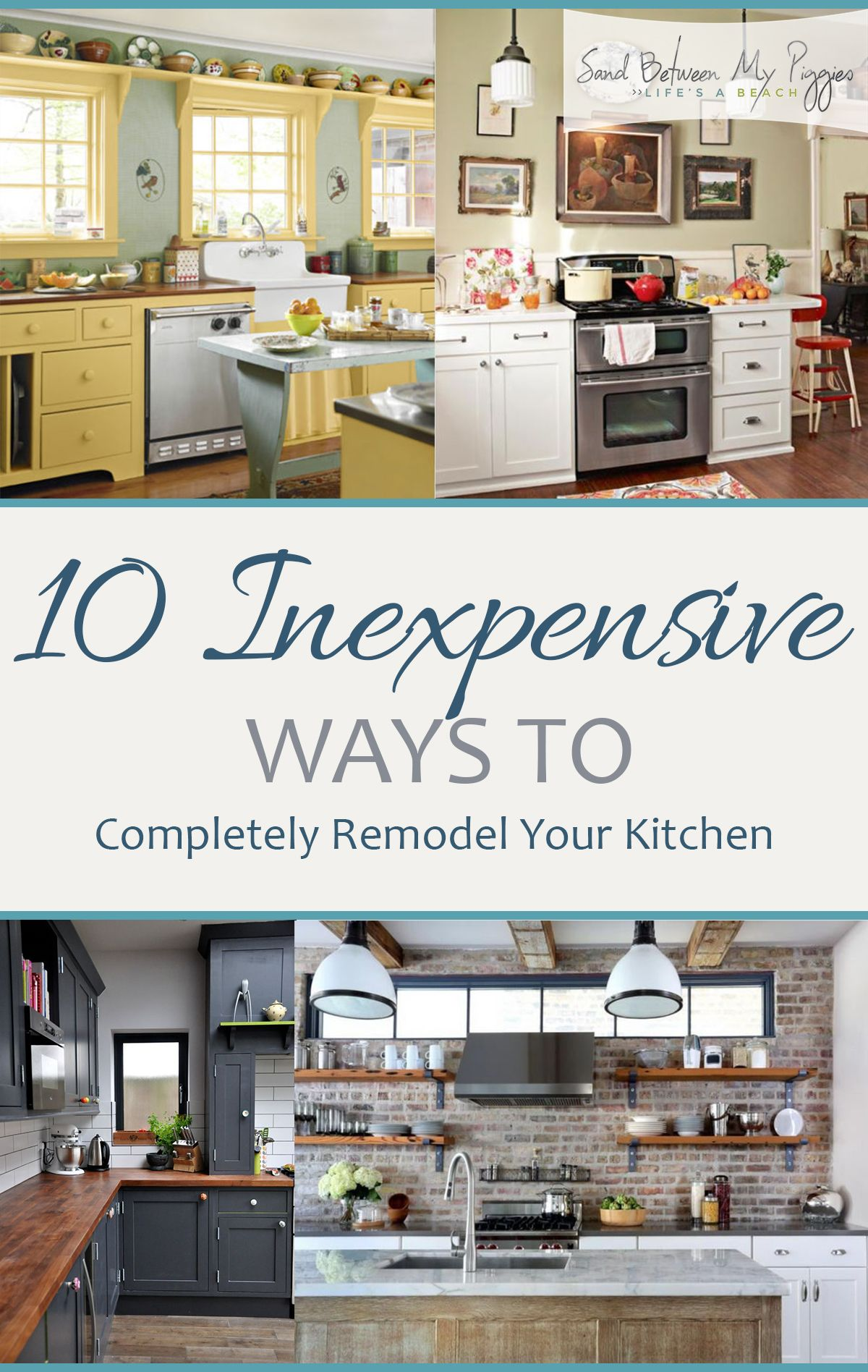 10 Inexpensive Ways to Completely Remodel Your Kitchen| How to ...