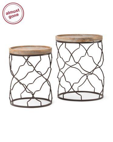 Set Of 2 Decorative Accent Tables Accent Table Decor Decor