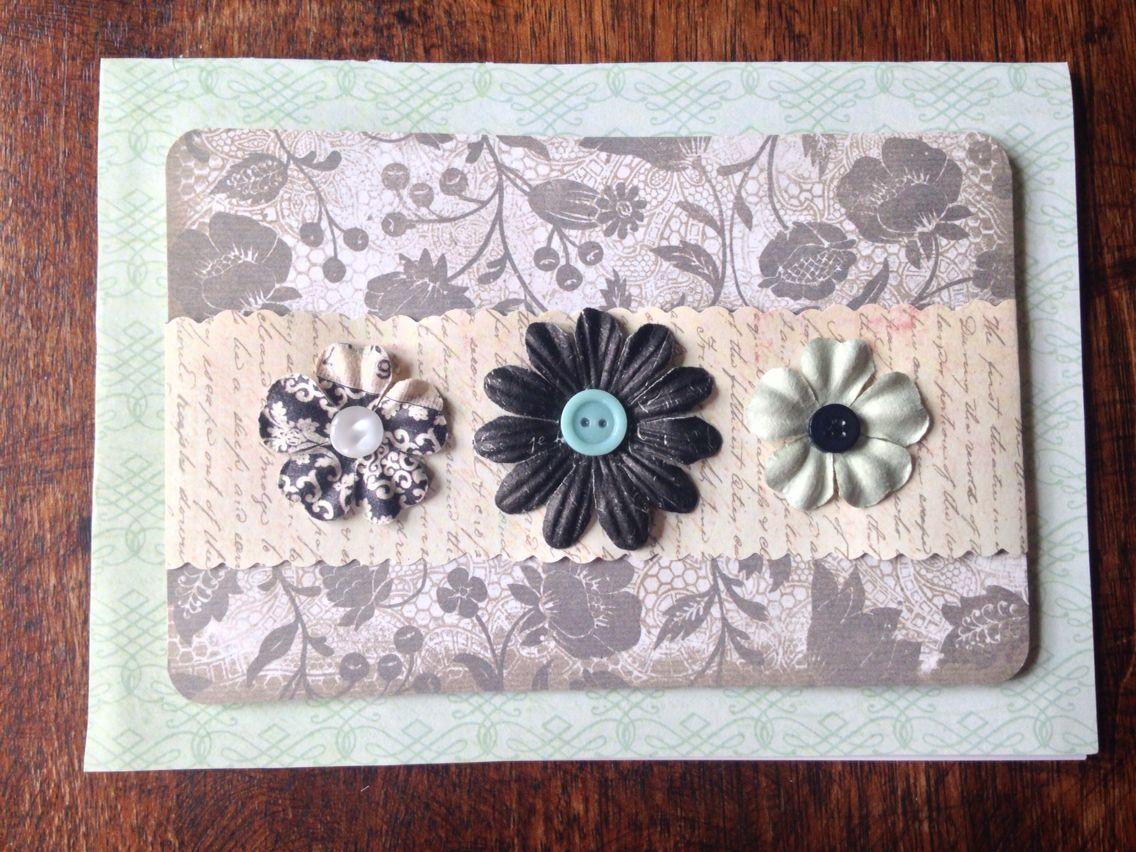 flower cardsara weimer  cards handmade flower cards