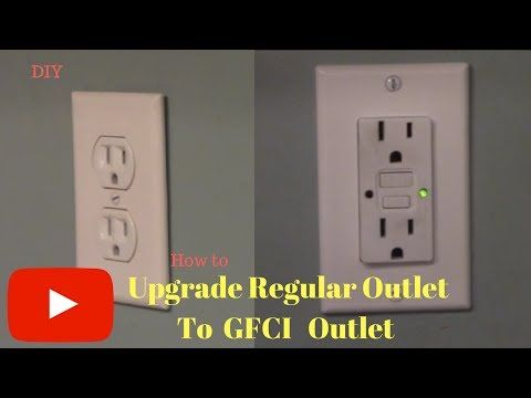 Removing And Replacing Regular Outlet With Gfci Outlet Youtube Gfci Outlet Electrical Outlets