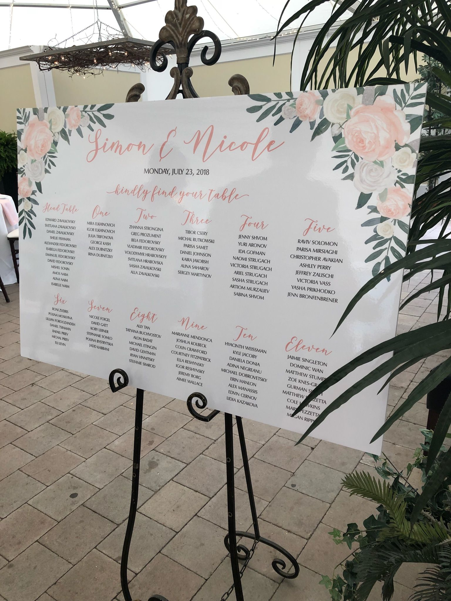 Custom pink floral seating chart printed on  foam board stunning also wedding digital design bridal rh pinterest
