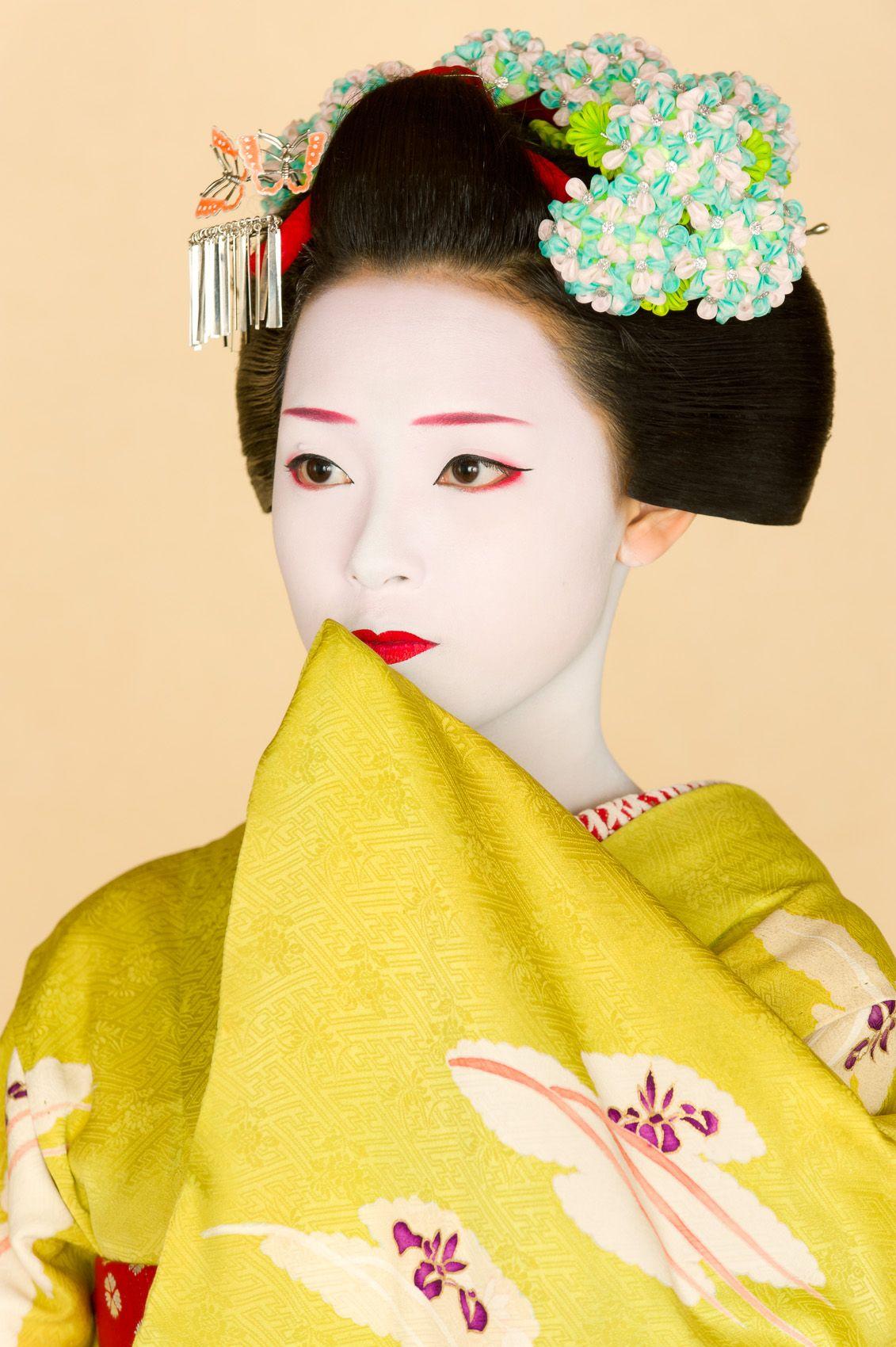 A beautiful geisha with a bbc mh 6
