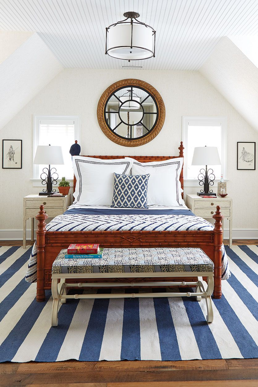 A bold blue and white color palette feels fun, while still being polished.