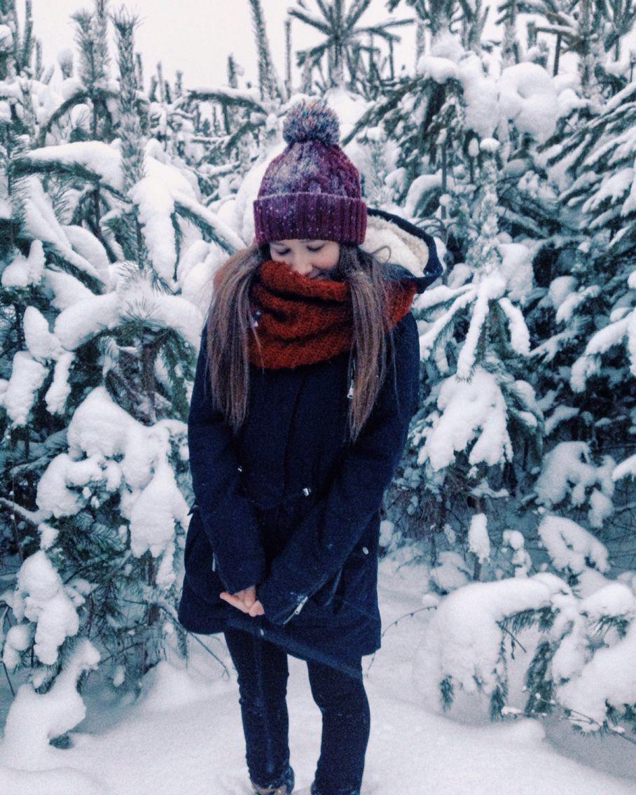 Картинки зимние девушек без лица