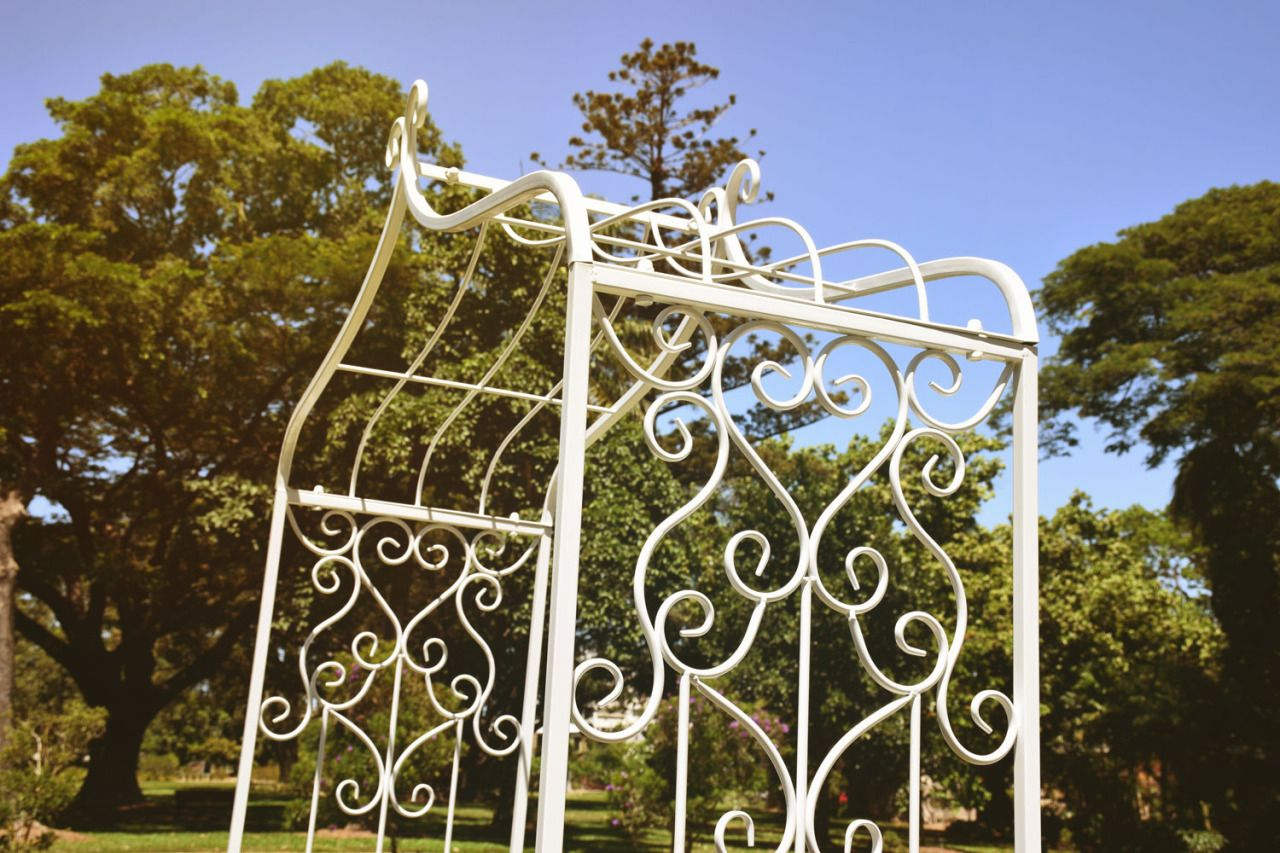 Tiffany wedding ceremony package featuring white arbour http://www ...