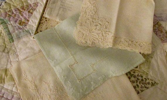 6 Vintage Handkerchiefs in a JL Hudsons Gift Box