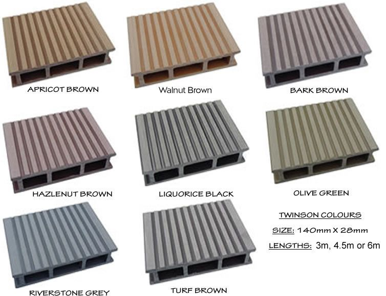 Twinson composite decking garden pinterest composite for Composite decking boards