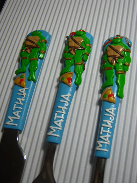 Childrens cutlerygift for kidsteenage mutant ninja turtles childrens cutlerycare bearspersonalized baby cutlery setgift for birthdaysunique negle Images