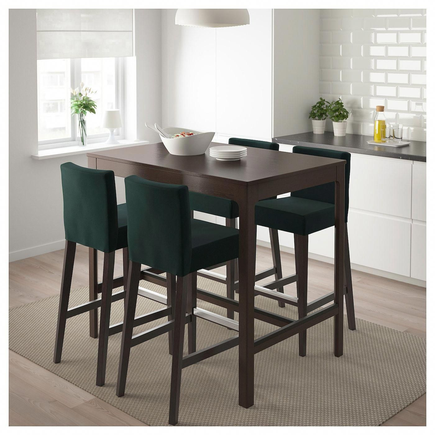 Ekedalen Bar Table Dark Brown Ikea In 2021 High Dining Table Bar Height Dining Table High Table And Chairs