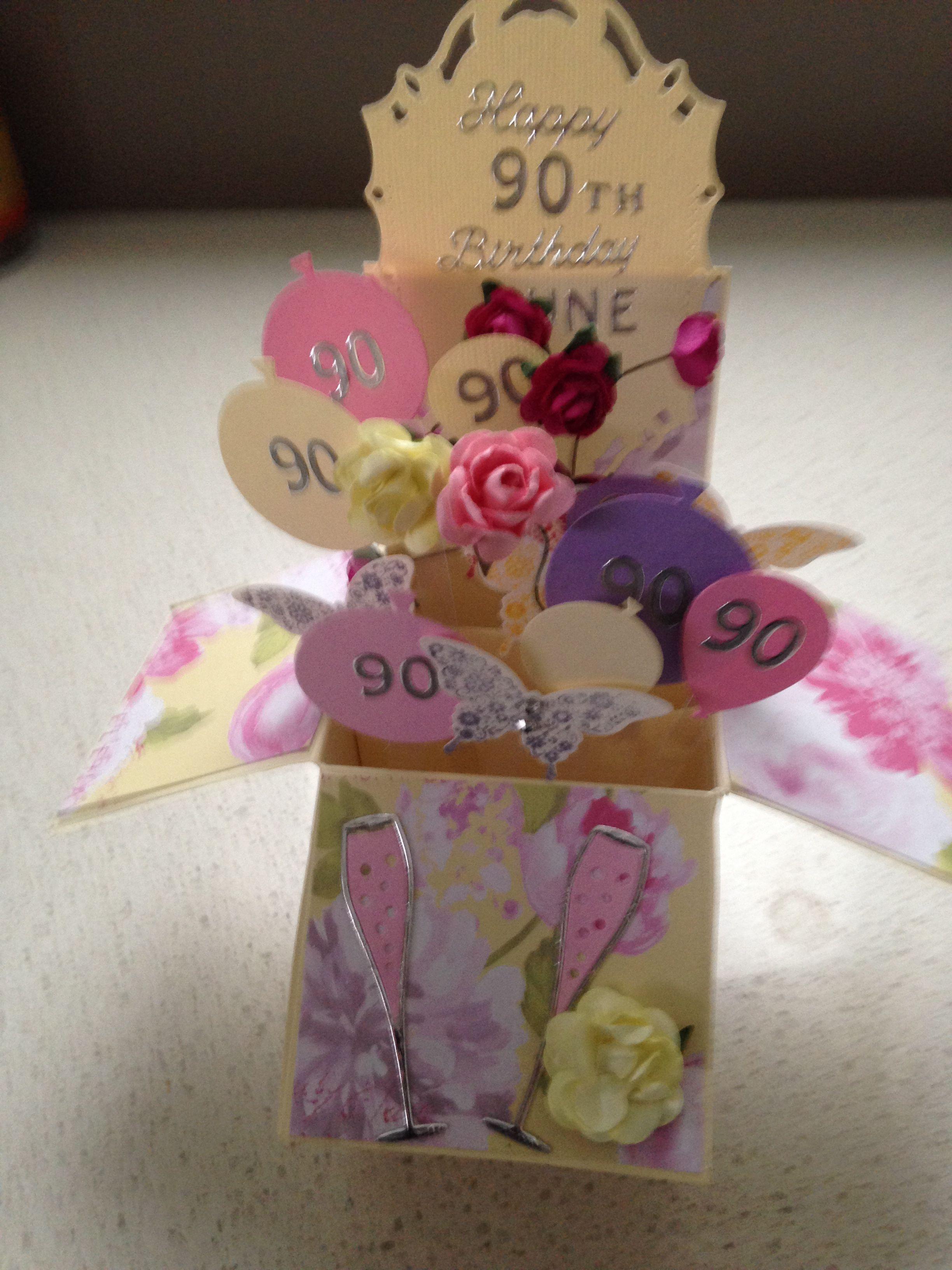 90th Birthday Pop Up Box For Friend 90th Birthday Gifts 80th Birthday Gifts Happy 90th Birthday