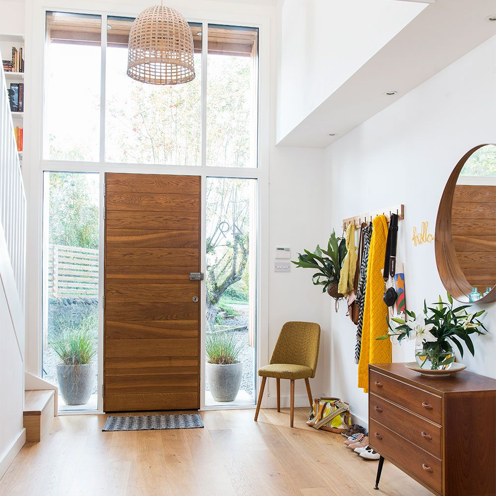 Step inside this retro inspired scandi style house in for Modern entrance hall