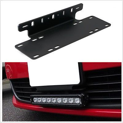 Heavy duty front bumper license plate mount bracket holder for heavy duty front bumper license plate mount bracket holder for led light bar mozeypictures Images