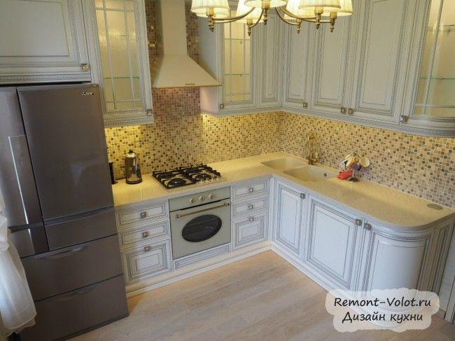 Дизайн белой с патиной кухни 10 ...
