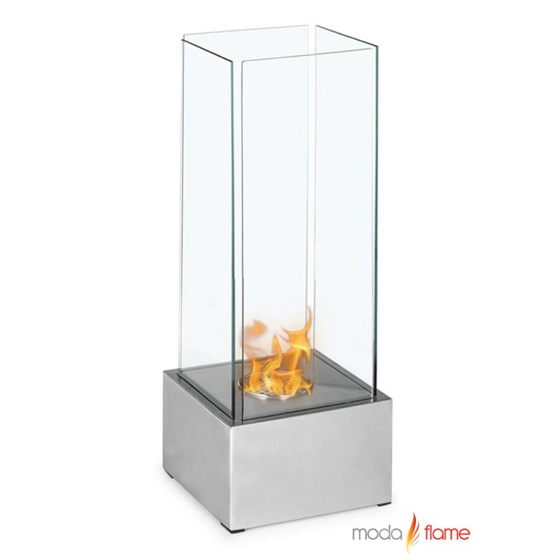 Moda Flame Carballo Table Top Ethanol Fireplace Carballo S Contemporary Fireplace Tall And Slender Contemporary Fireplace Modern Fireplace Fireplace Design
