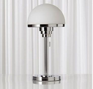1930s Art Deco Style Half Moon Table Lamp At Marks Spencer Retro To Go Lamp Art Deco Lamps Half Moon Table