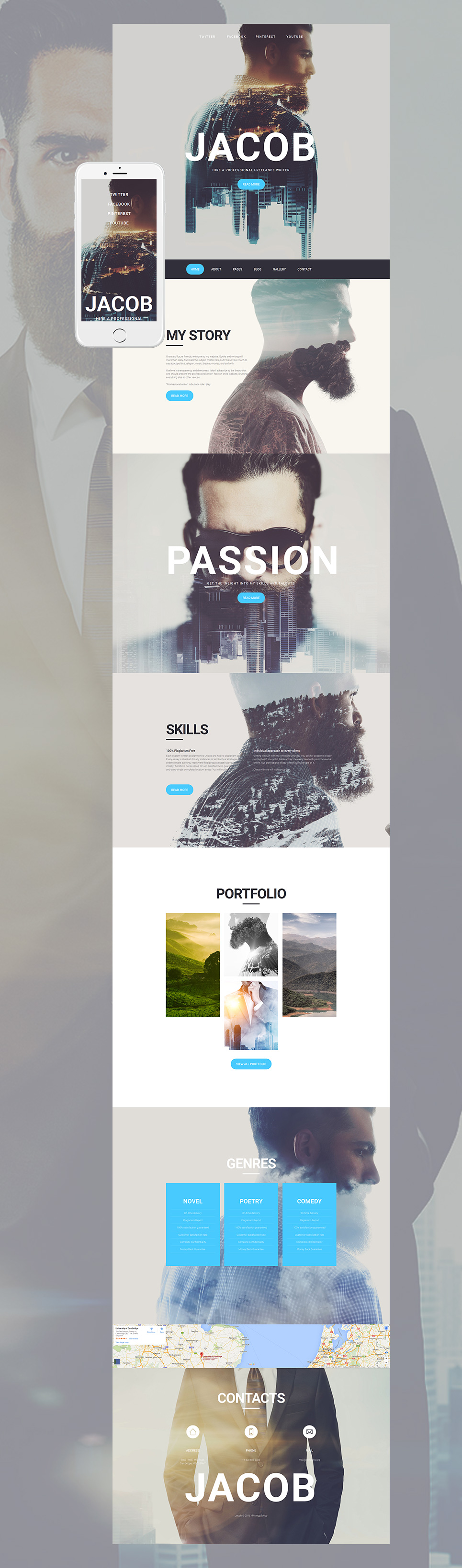 Creative and unusual #photo website from MotoCMS. Fantastic ...