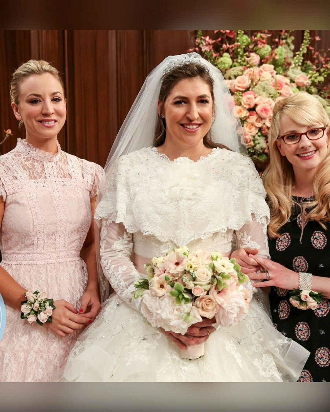 Amy's wedding dress  Penny Amy and Bernadette on Shamyus wedding day TBBT  The Big
