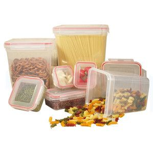 7 Piece Lock and Seal Food Storage Container Set food storage