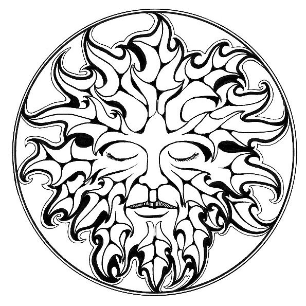 Pix for the green man drawing arts and crafts for Pyrography templates free