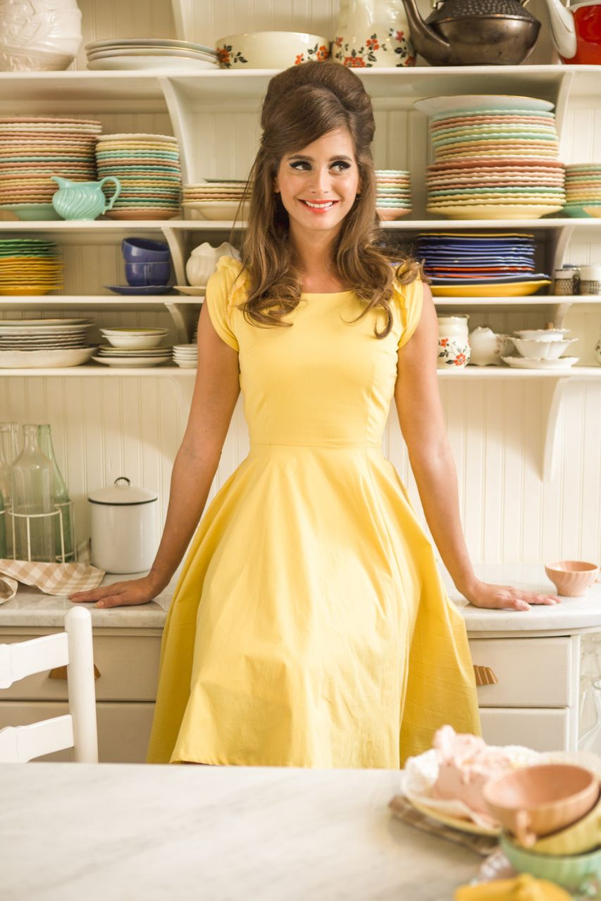 In a cinch dress yellow gardenias and gingham by shabby