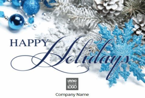 Blue Hy Holidays Free Greeting Card Template 60 Off Ends 11 1 17 Available In Several Sizes