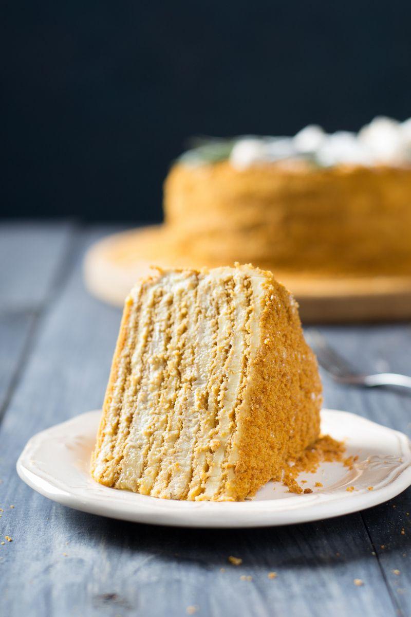 Russian Honey Cake(Medovik) | Let them eat cake.. | Pinterest ...
