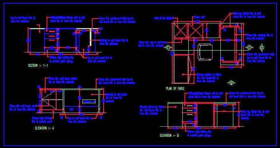 Download free #autocad #drawing of Executive Desk Executive Desk
